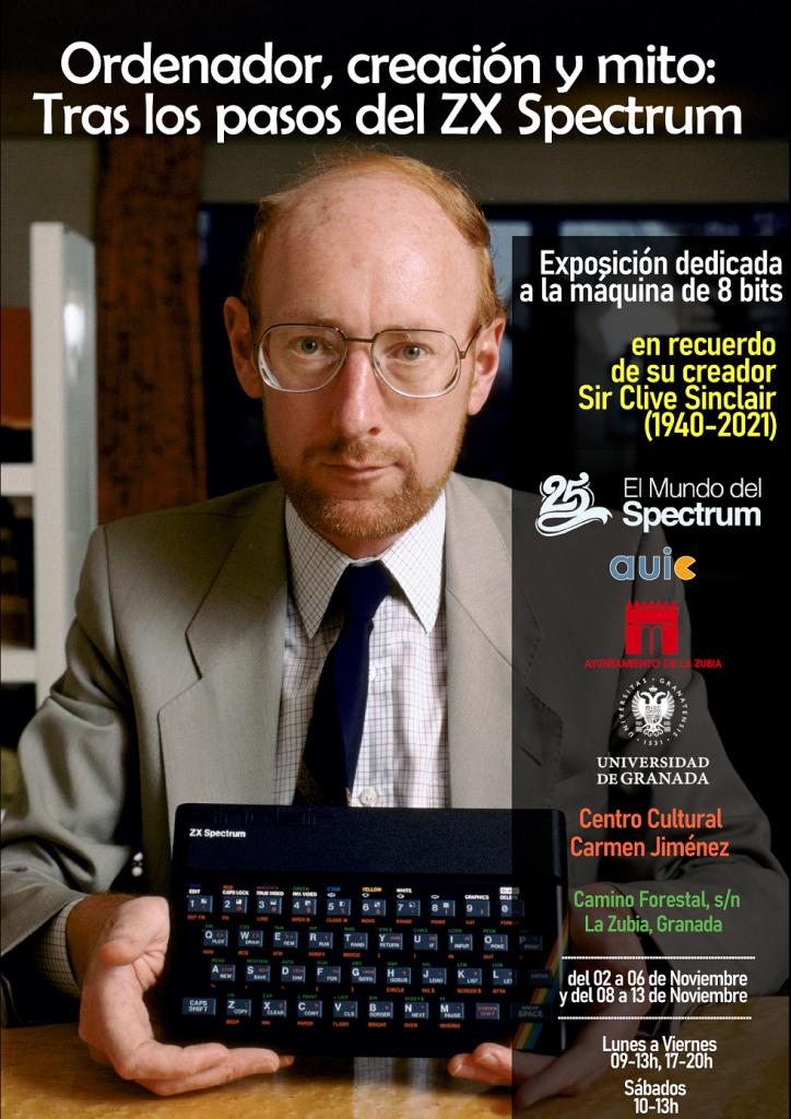 Exposición dedicada al ZX Spectrum y Sir Clive Sinclair